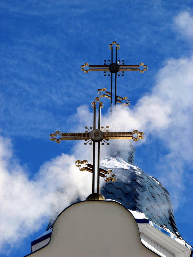 Download Church Crosses Inside White Cloud 2 Stock Photo - Image of build, divine: 8029820