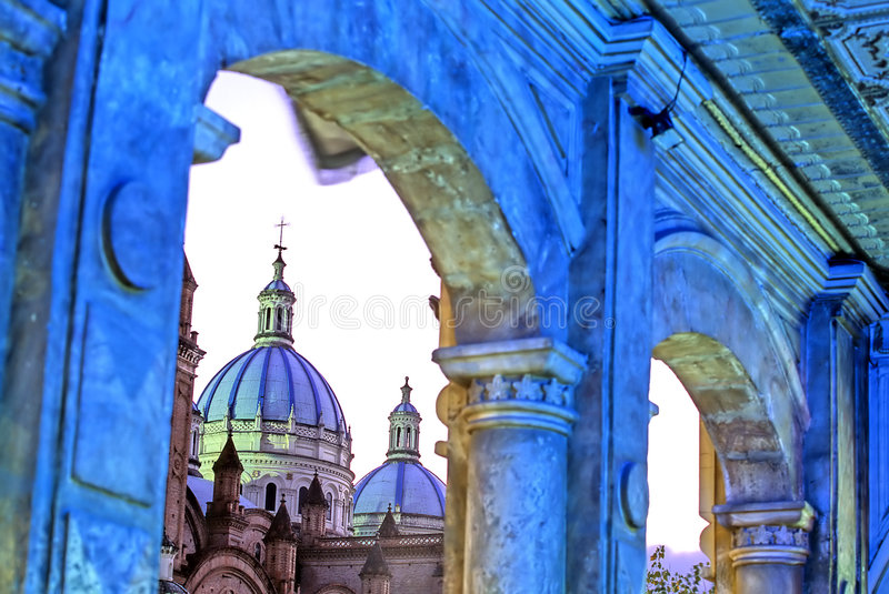 Church- Cuenca stock images