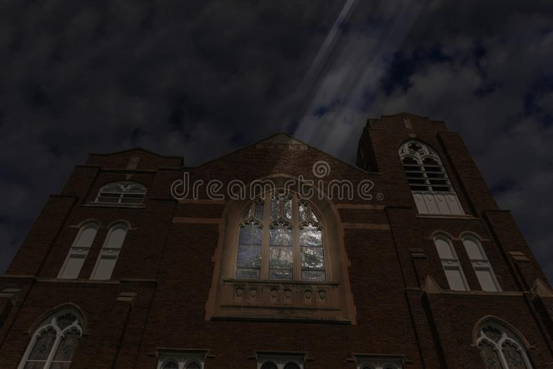 Church in Darkness stock image