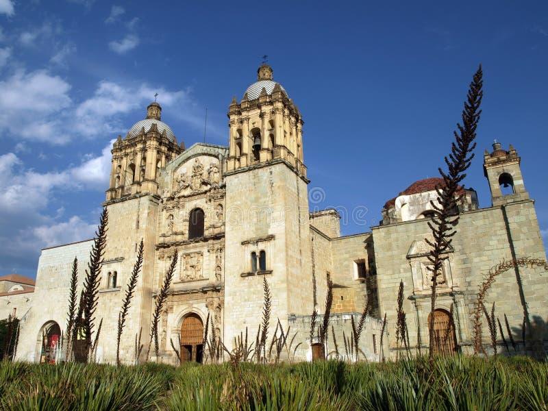 church de多明戈・墨西哥oaxaca santo templo 库存图片