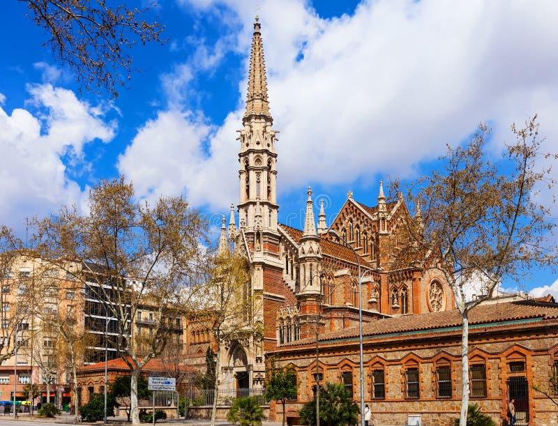 Church De Las Salesas In Barcelona. Catalonia Editorial Stock Image