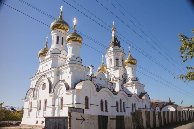 Church de príncipe Vladimir en la ciudad de Irkutsk imagen de archivo