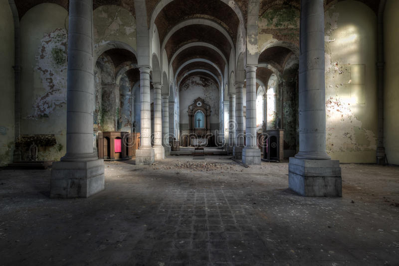 Church of Decay royalty free stock images