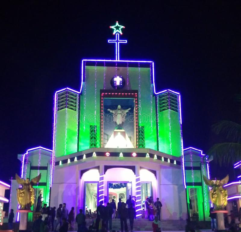 A PLACE OF WORSHIP Church, Tezpur ASSAM stock photos