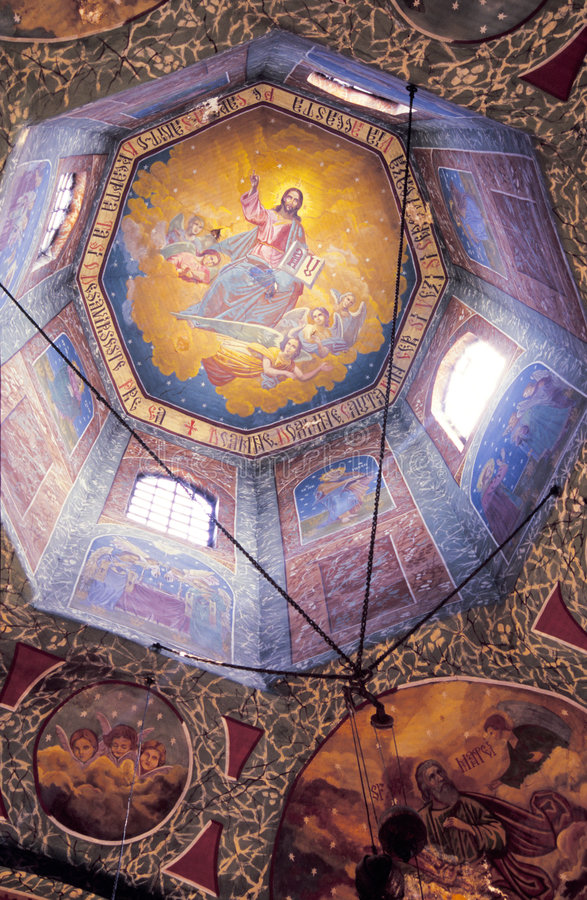 Church Dome Interior Royalty Free Stock Photography