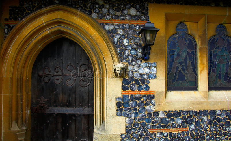 Church Door. Old church door, in Essex, England stock photos