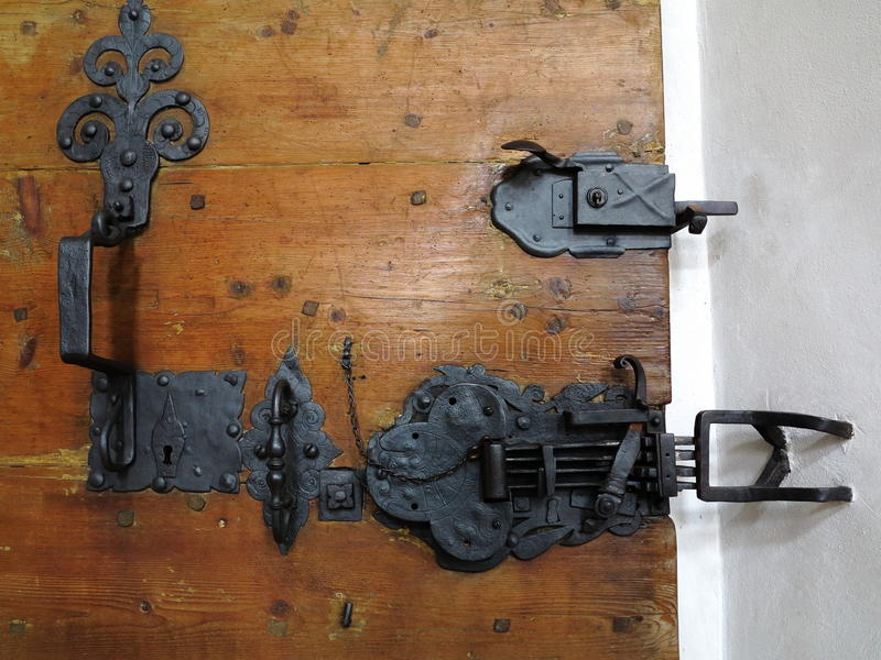 Church door latch stock image image of antique for Door lock germany
