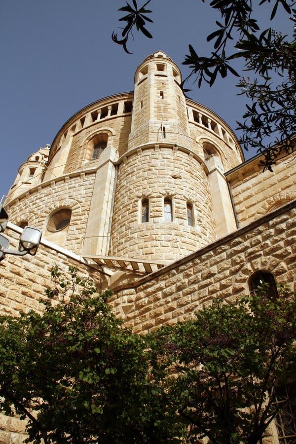 Church Of Dormition On Mount Zion,Jerusalem stock photo