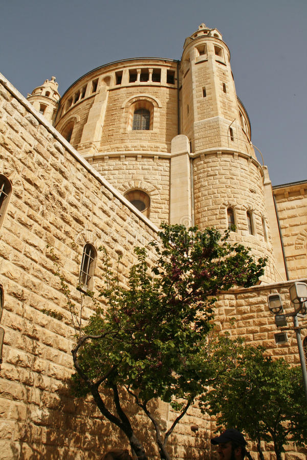 Church Of Dormition On Mount Zion,Jerusalem royalty free stock photos