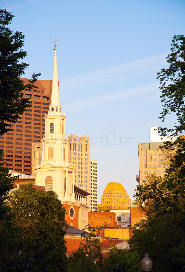 Download Church in downtown Boston stock photo. Image of massachusets - 26548608