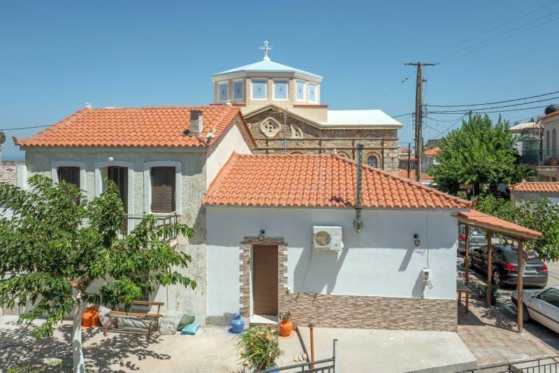 Church in Drakei on the island Samos, Greece. stock photography
