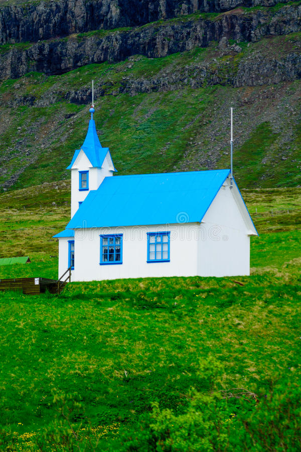 church in the east fjords region royalty free stock photography