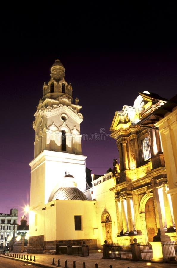 Church- Ecuador stock photo