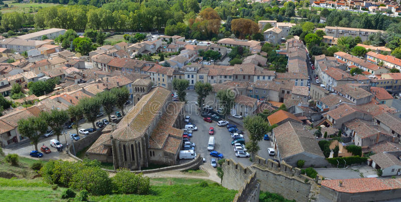 The Church of Eglise Saint-Gimer Carcassonne royalty free stock photo