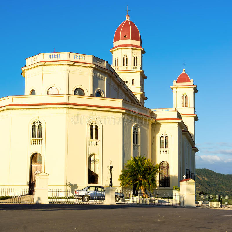The church of El Cobre in Santiago de Cuba royalty free stock photos