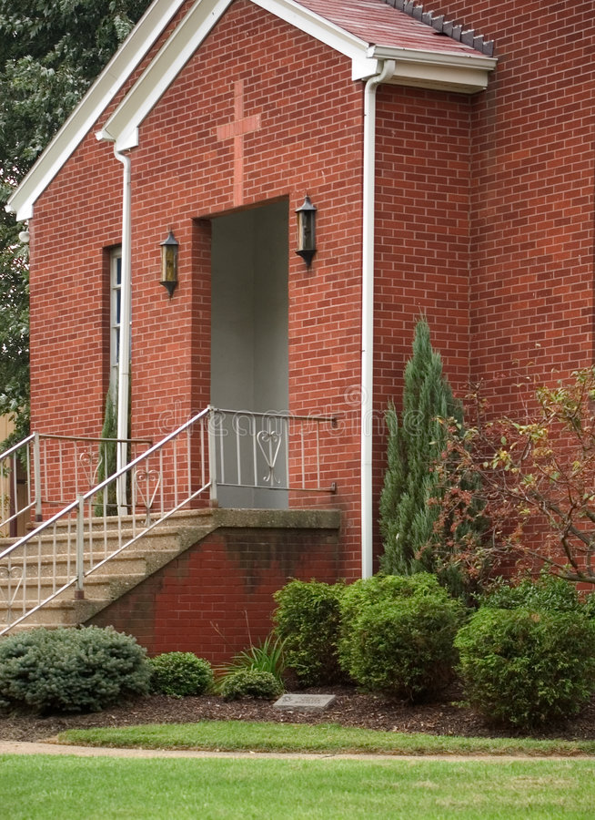 Download Church Entrance stock image. Image of railing, brick, stairs - 26203