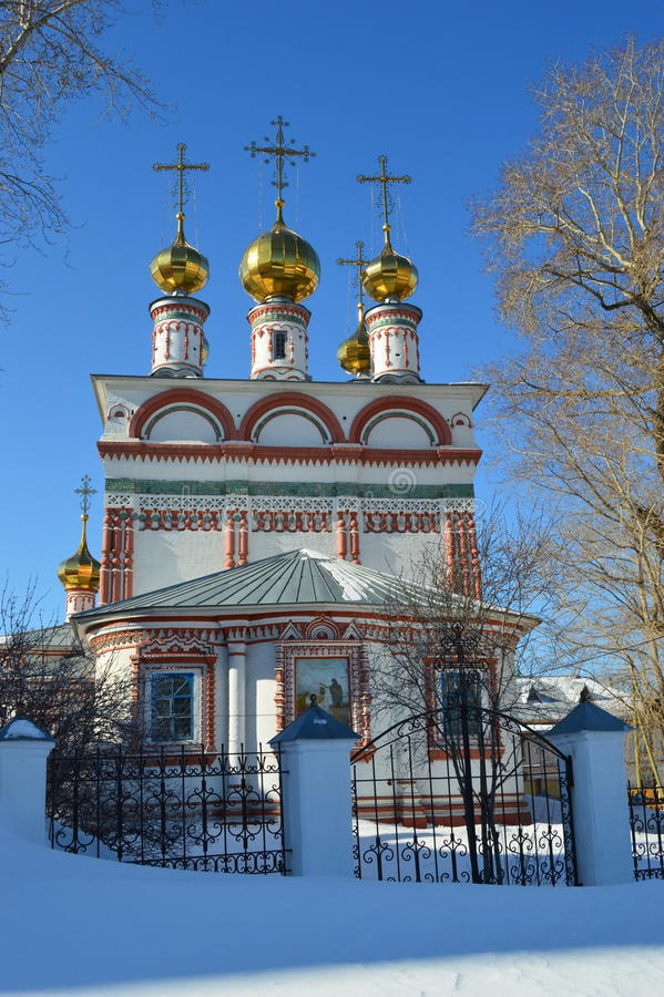 Church of Epiphany.Russia.Solikamck.Perm region. stock photography