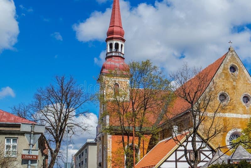 Eliisabeti kirik – St. Elizabeth's Church in Parnu, Estonia stock photos