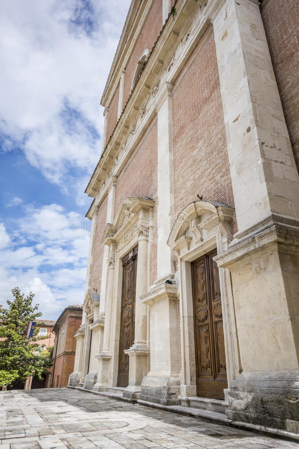 Church in Fabriano Italy Marche. An image of a church in Fabriano Italy Marche stock photos
