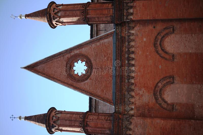 Church facade, details royalty free stock image