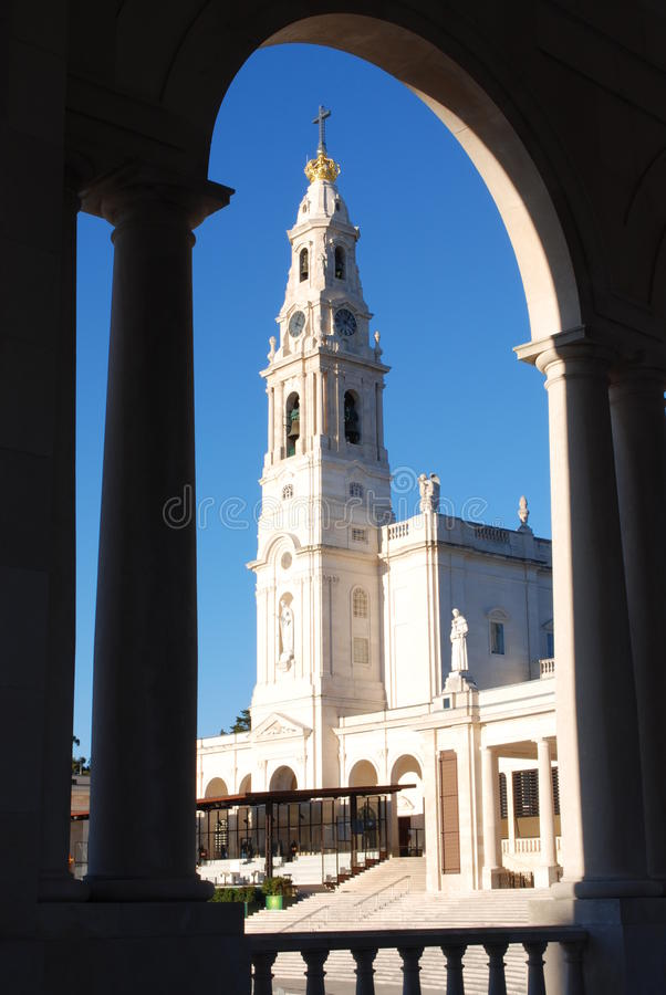 Church at Fatima, Portugal stock photography