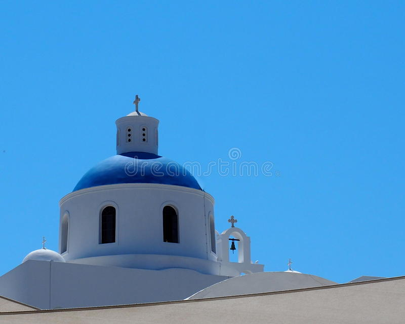 Church In Fira Santorini Greece royalty free stock photo