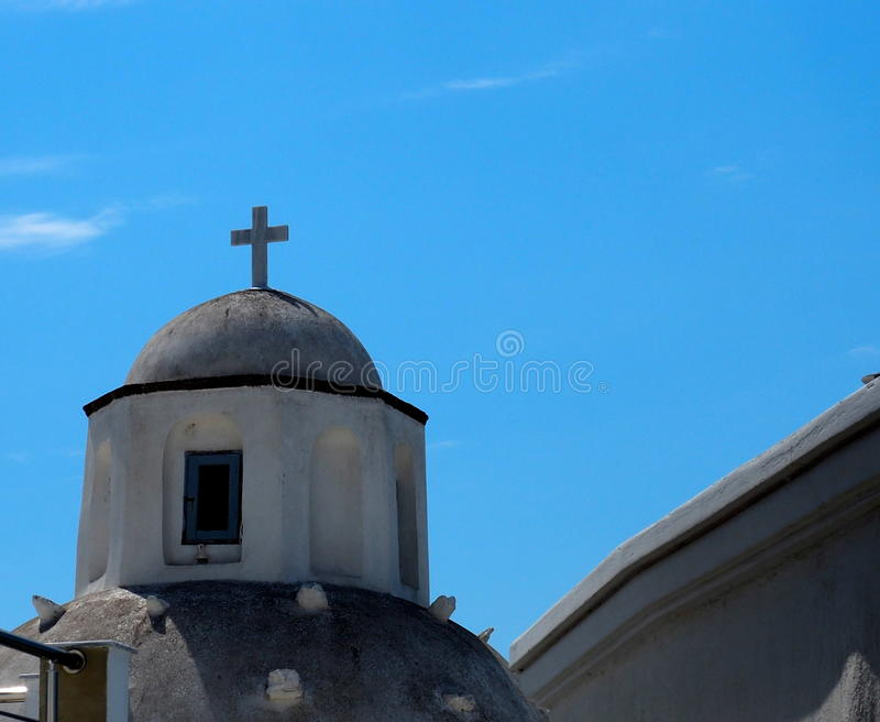 Church In Fira Santorini Greece royalty free stock images
