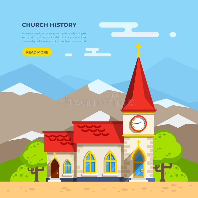 Free Church Flat Illustration Royalty Free Stock Photos - 74272858