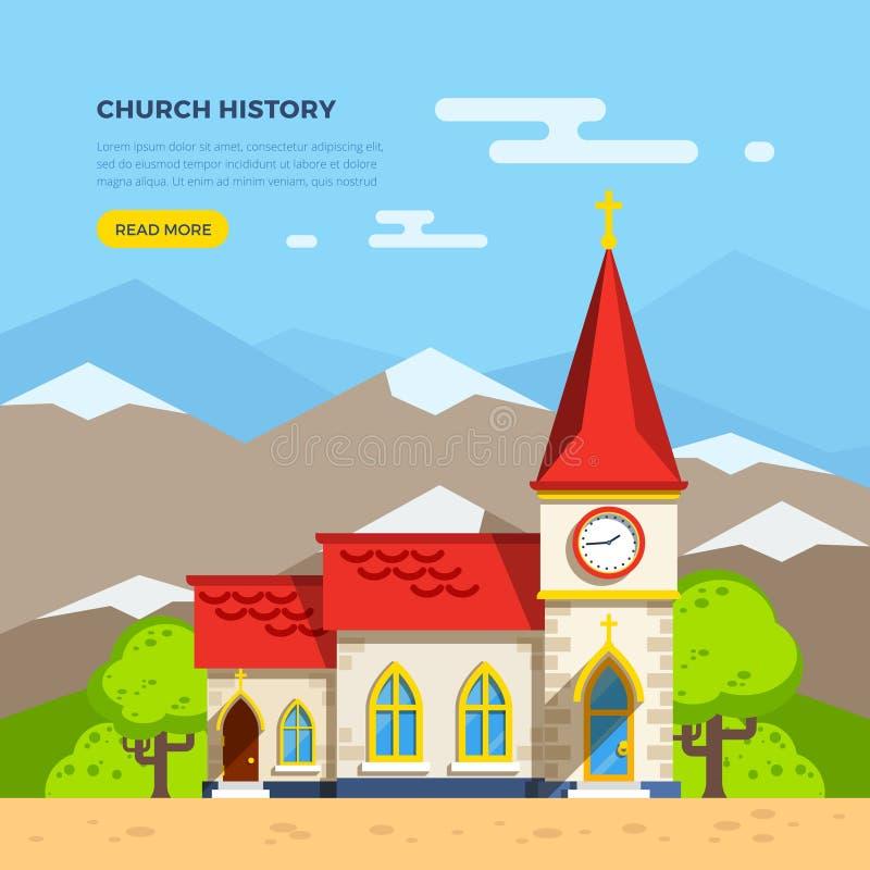 Church Flat Illustration stock illustration