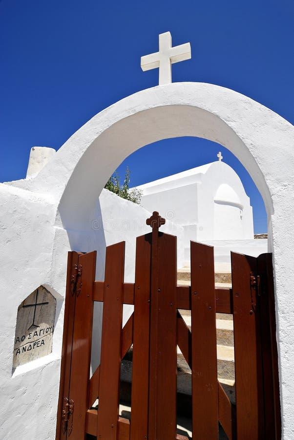 Church in Folegandros island, Greece. Greek church in Folegandros island, Greece stock image