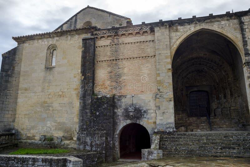 Church-fortress of San Esteban royalty free stock photos