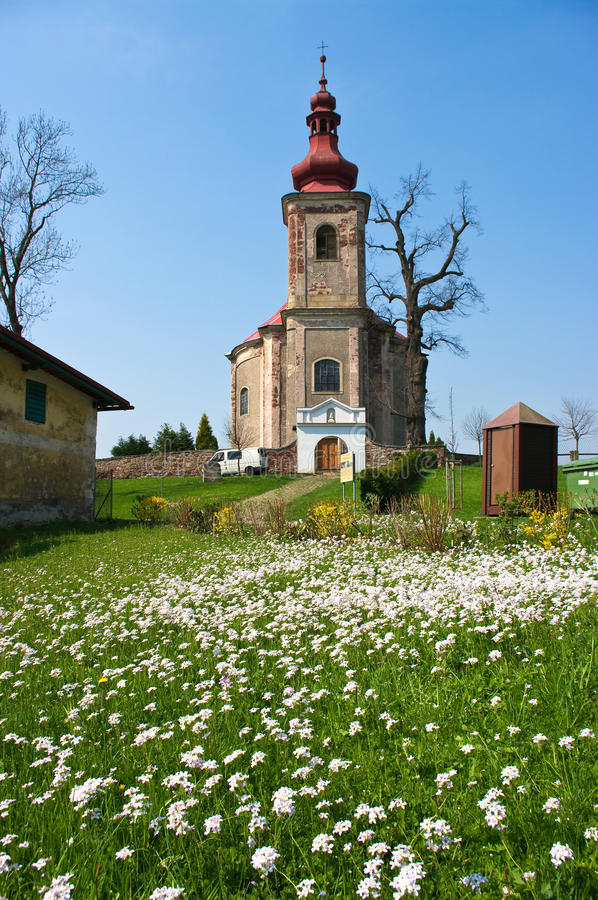 Download Church and fresh meadow stock image. Image of mountain - 19815409