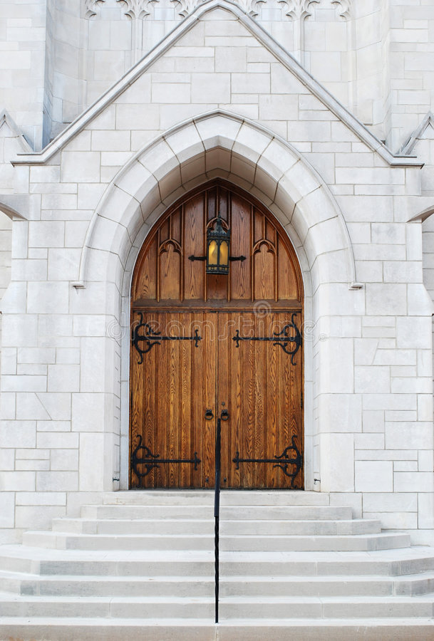 Church Front Entrance stock photo