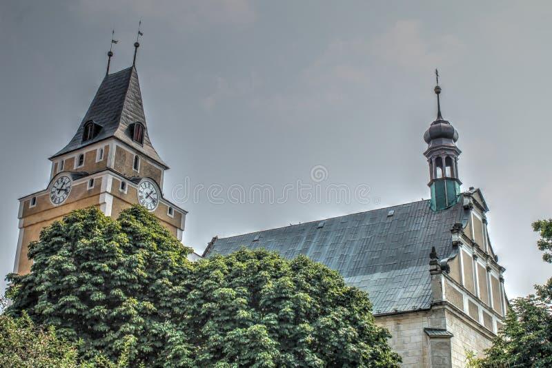 Church in Frydlant. Czech Republic royalty free stock photography