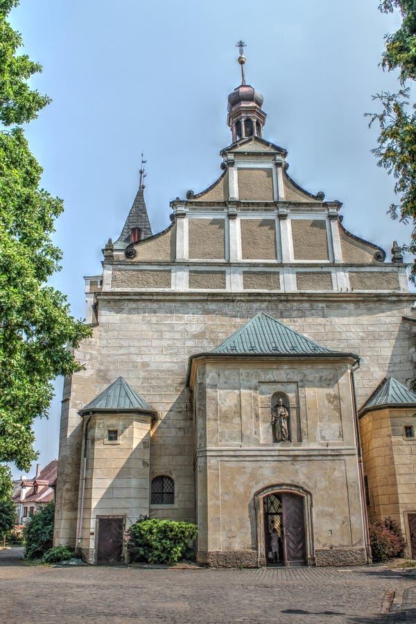 Church of Frydlant. Czech Republic stock photo