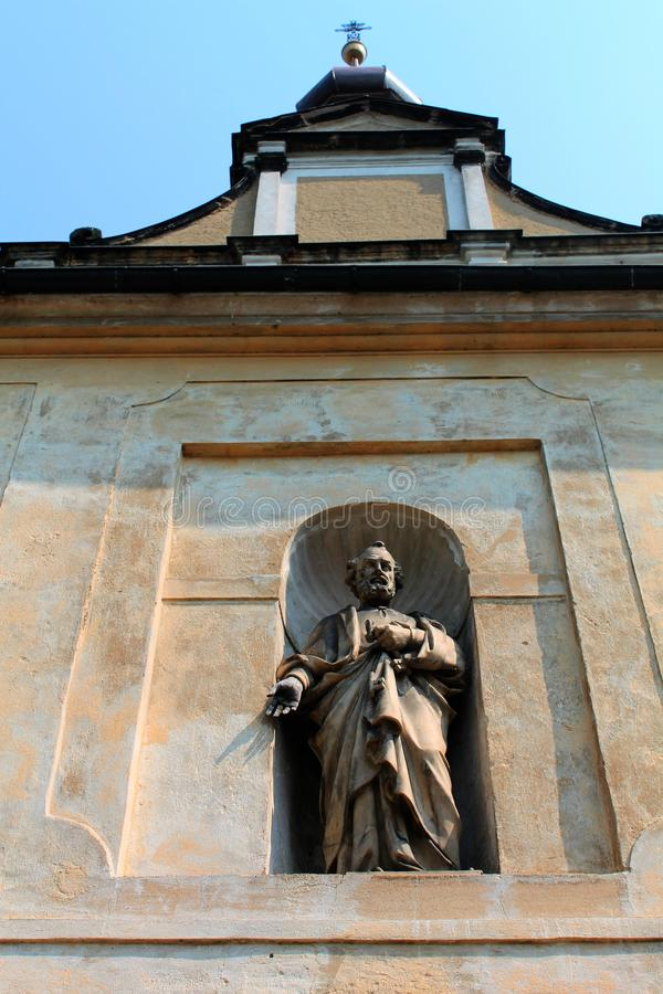 Church of Frydlant. Czech Republic royalty free stock photo
