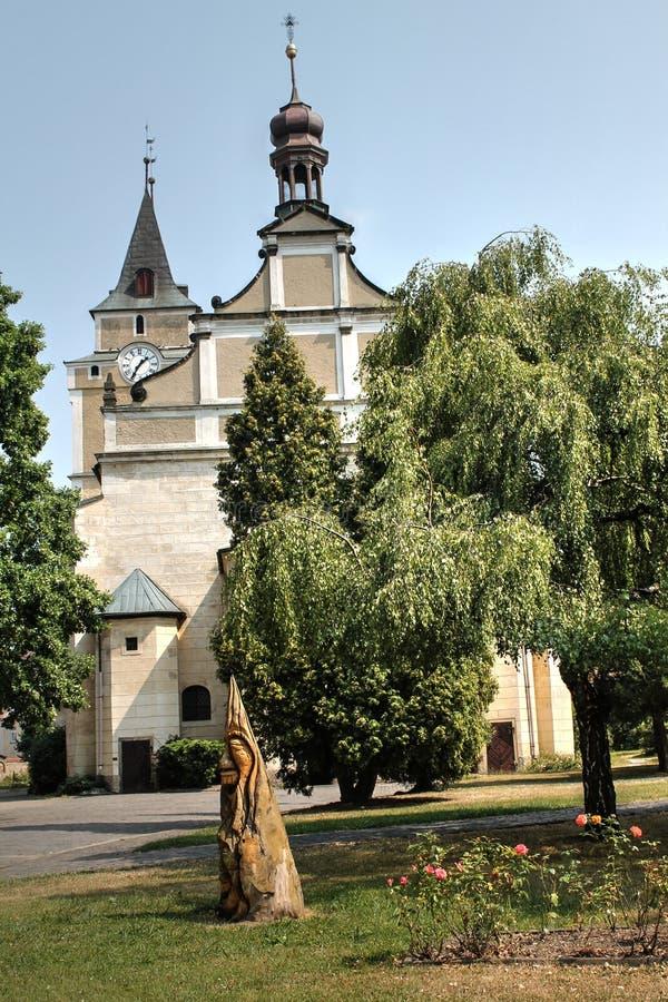 Church of Frydlant. Czech Republic stock photography