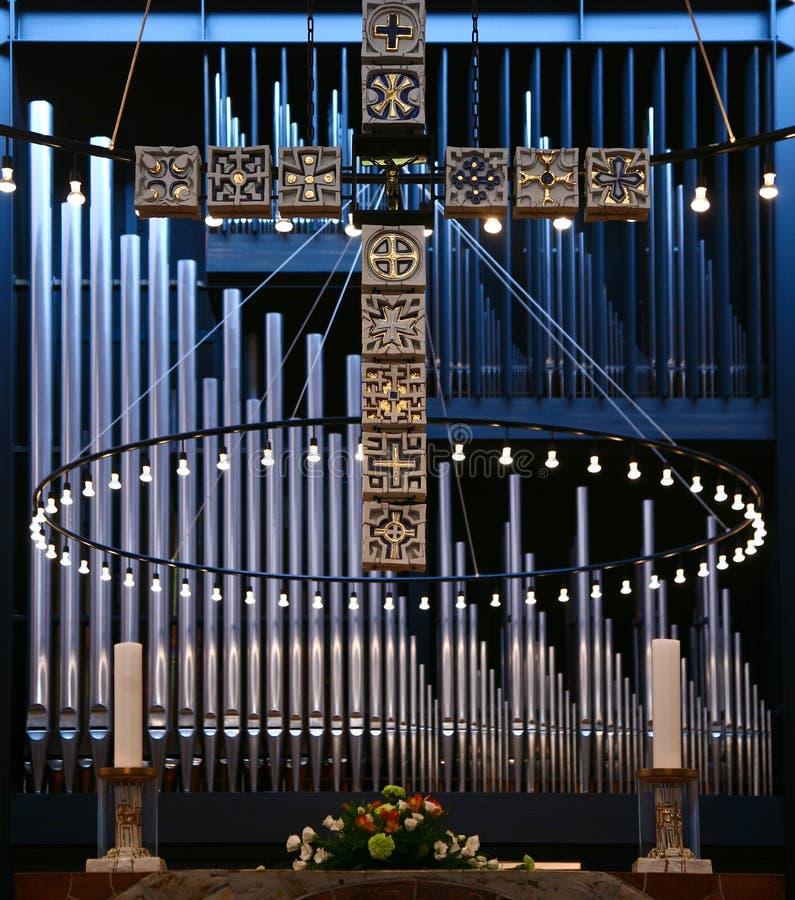 Church in Gentofte. Organ in a Church in Gentofte stock image