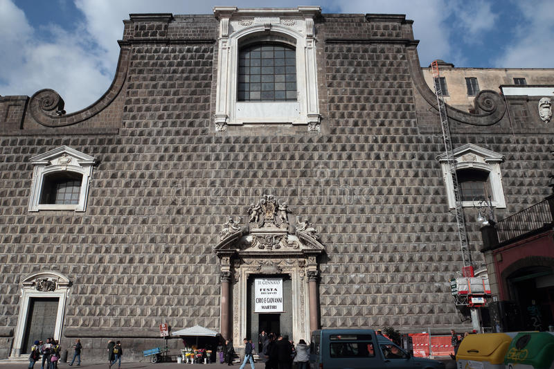 Church Gesu nuovo in Naples stock images