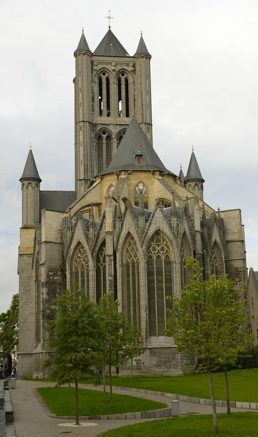 Church in Ghent stock image