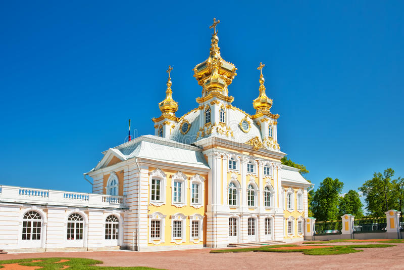 Church Of Grand Palace In Peterhof Royalty Free Stock Image