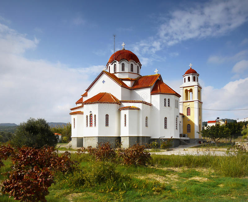 Church on Greek Island stock photo