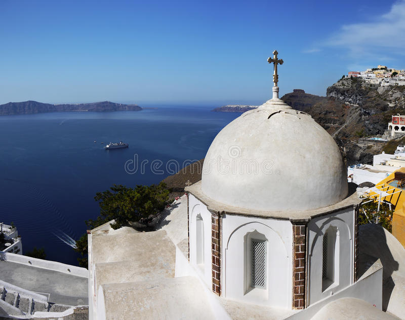 Church Greek Islands royalty free stock photos
