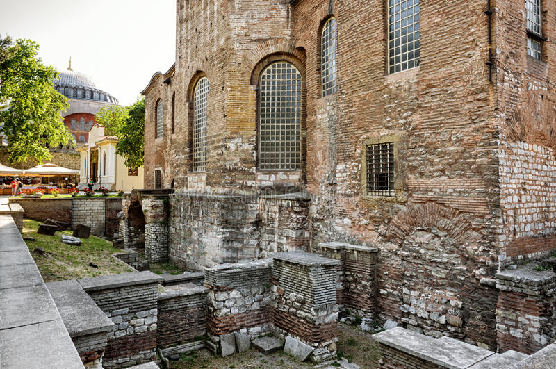 Church of Hagia Irene (Saint Irene) in Istanbul royalty free stock image