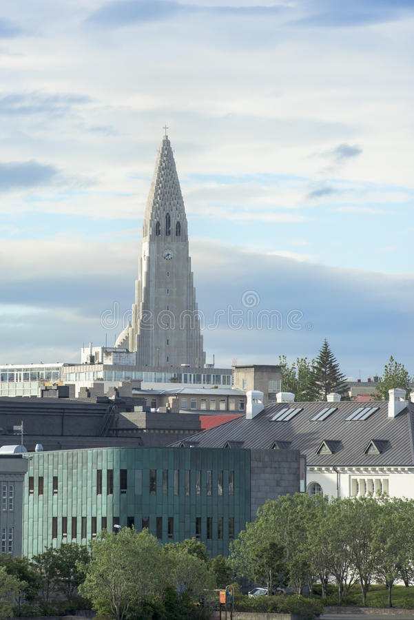 Church Hallgrimskirkja Reykjavik stock photography