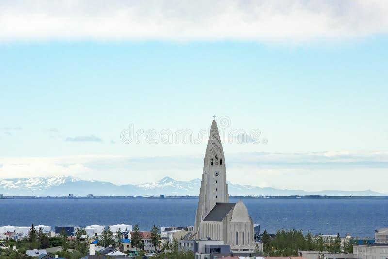 Church Hallgrimskirkja Reykjavik royalty free stock images