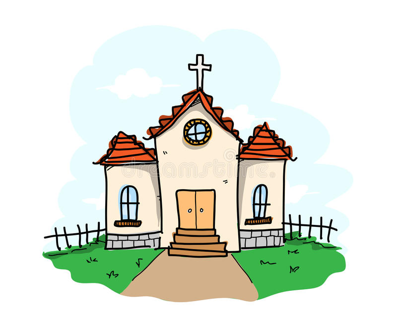 Church royalty free illustration
