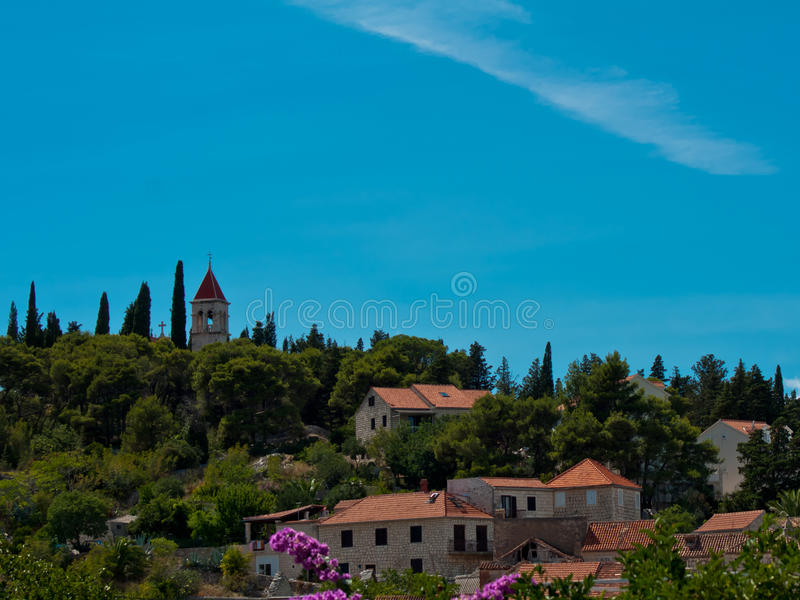 Download Church on hill stock photo. Image of nature, houses, trees - 20556424