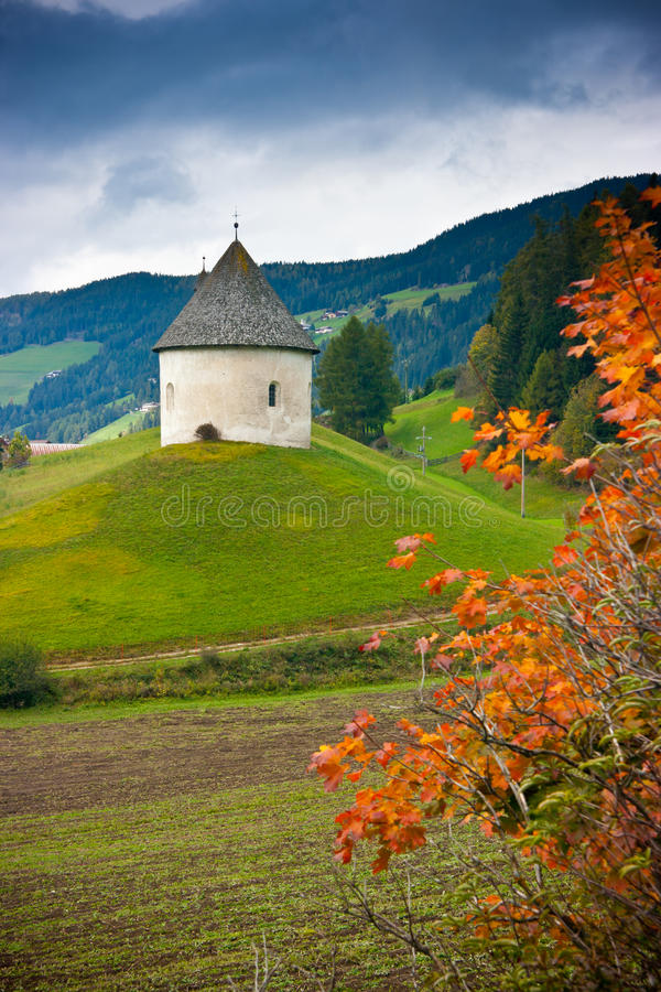 Download Church on the hill stock photo. Image of village, field - 28702766