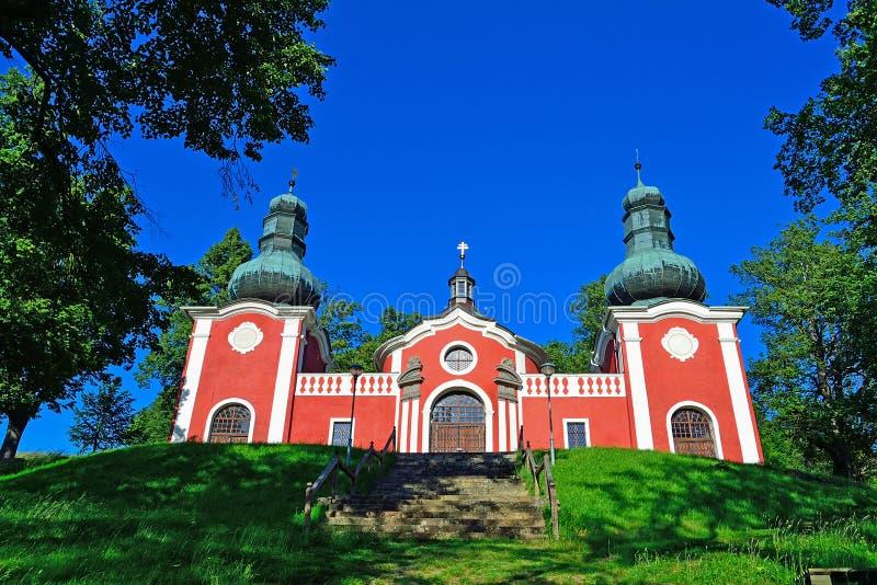 Church on the Hill in Slovakia royalty free stock photos